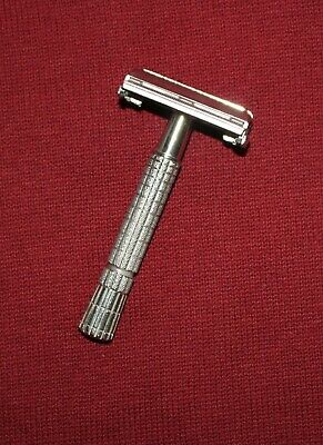 Vintage 1954 Z - 1 Gillette Super Speed Flair Flare Tip Double Edge Safety Razor