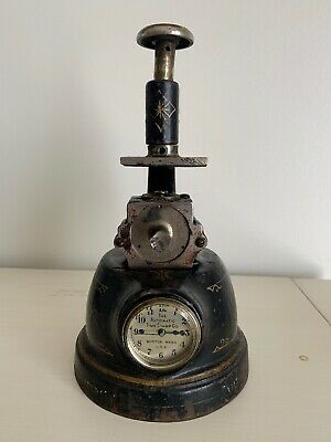 Antique The Automatic Time Stamp Co Boston Mass Clock Running Keeping Time 1920