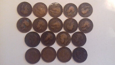 18x George V Penny 1912 to 1935 - george, well worn - #c33