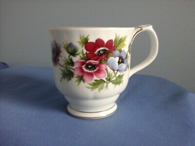Royal Albert Flowers of the Month March Anemones cup coffee mug VGC