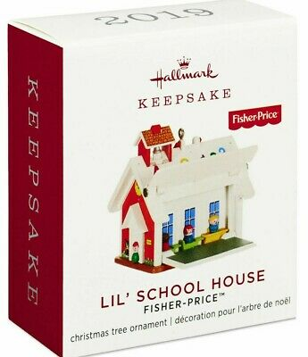 Hallmark 2019 Fisher-Price MINI LIL' SCHOOL HOUSE Christmas Boxed Ornament