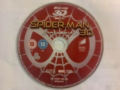 Spider-Man Homecoming 3D Blu Ray Tom Holland Marvel Region Free *Disc Only*