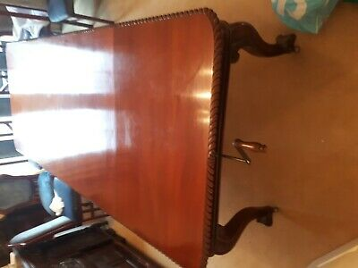Antique Quality Mahogany 12 Seater Windout Table