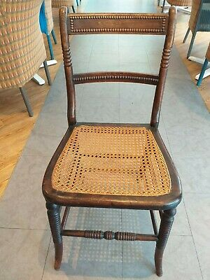 SIMULATED Regency ROSEWOOD Antique Victorian CANED Chair cane seat FANCY TRIM
