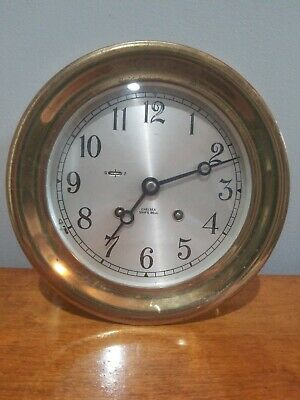 "Vintage Chelsea Ships Bell 6"" Clock with Key, 1971, Used by B&O Railroad"