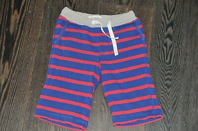 Boys Mini Boden Red Blue Stripy Jersey Baggies Knee Shorts Size 4 Years