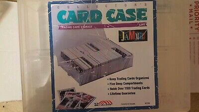 Trading Card Storage Case Box Jammers Holds 1100 Baseball Basketball Football