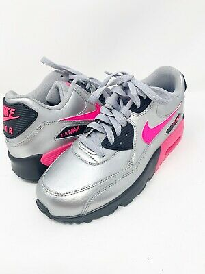 NIKE AIR MAX 90 LTR GS Running Shoes Size 4.5Y 7Y White