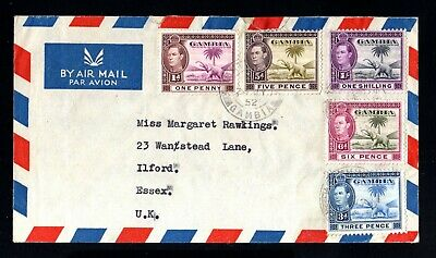17791-GAMBIA-AIRMAIL COVER BATHURSTE to ESSEX (england)195.British colonies