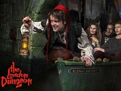 2 Adult & 1 Child LONDON DUNGEON Tickets Open Date up to 03/08  SAVE 30%