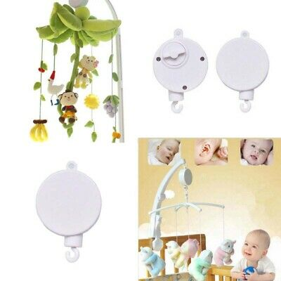2PCS Rotary Baby Crib Mobile Bed Bell Toy Wind up Music Box DIY Hanging Holder