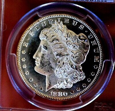 Morgan silver dollar 1880 S PCGS MS64+++++ glassy pl mirrors