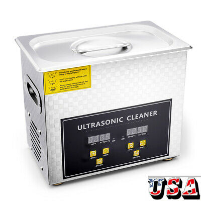 Stainless Steel 3.2 Liter Industry Heat Ultrasonic Cleaner Heater w/Timer
