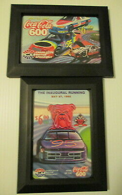 Coca Cola 600 Charlotte 1995 Jumbo Phone Cards Inaugural Edition 5 x 7 Frames