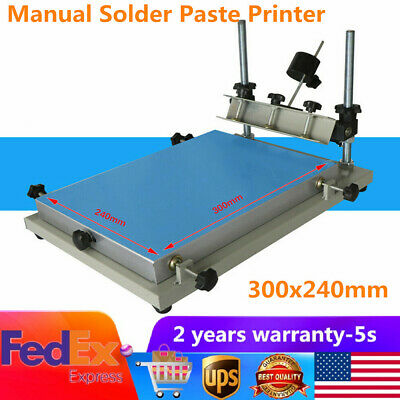 Manual solder paste printer PCB SMT stencil printer S size 300x240mm Brand New