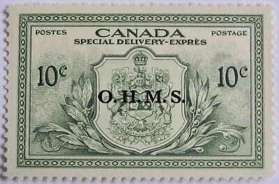 """CANADA #EO1: VF MNH 10-Cent Special Delivery """"O.H.M.S."""" Overprint"""