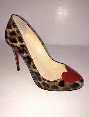 8d8c4f28ccd1 CHRISTIAN LOUBOUTIN Booton 85 Leopard Print Ankle Boots IT 38 / US 8 $1295.
