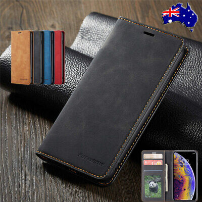For iPhone Xs Max Xs Xr X 8/7/6s Plus Magnetic Leather Wallet Case  Flip Cover