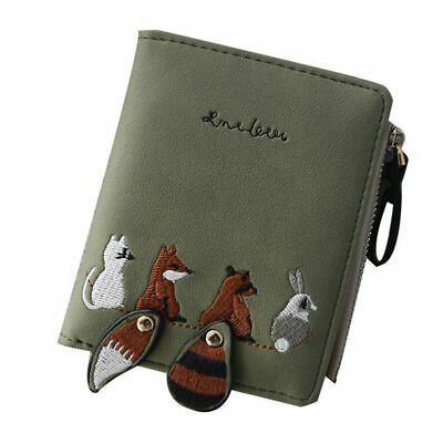 Women's Wallet Lovely Cartoon Animals Short Female Leather Purse Hasp Zipper NEW