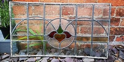 Victorian or early 1900's leaded stained glass window