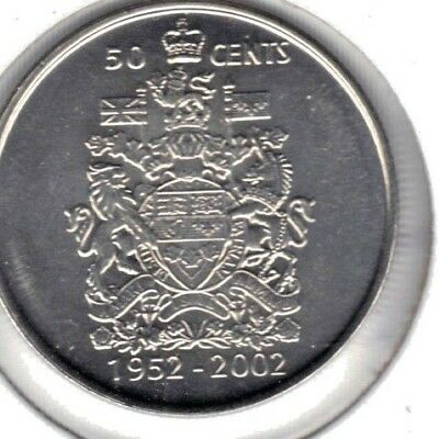Canada Bu 2002 Fifty Cent Coin From Mint Roll