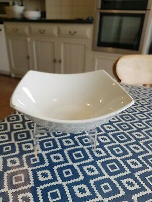 Marks And Spencer Andante Square Cereal Bowls X 2 White M&S Free Shipping