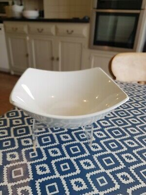 Marks And Spencer Andante Square Cereal Bowl X1 White M&S Free Shipping
