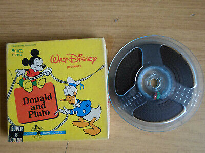 Super 8mm colour silent 1X200 DONALD AND PLUTO. Walt Disney cartoon.
