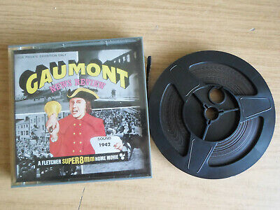 Super 8mm sound 1X200 BRITISH GAUMONT NEWS 1942.