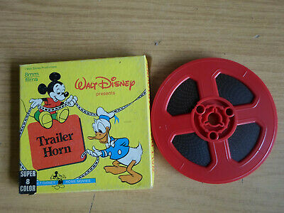 Super 8mm colour silent 1X200 TRAILER HORN. Walt Disney cartoon.