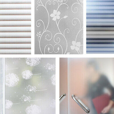 Frosted Window Film, Privacy White Opal Frost Etched Glass Self Adhesive Vinyl