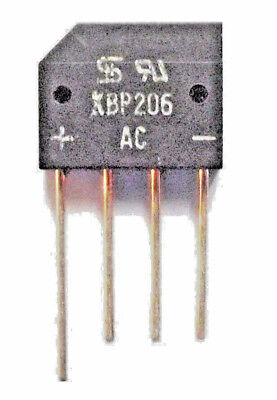 KBP206 G   Diode Rectifier Bridge Single 600V 2A 4-Pin Free UK Postage