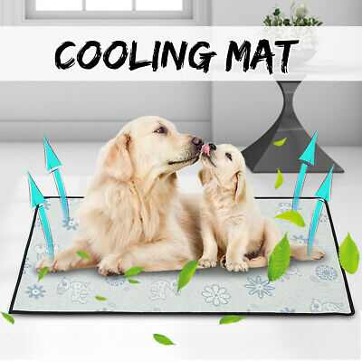 Pet Dog Cat Cooling Mat Puppy Chill Summer Cushion Pad Cooler Cool Bed S-XL US