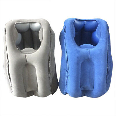 Inflatable Travel Sleeping Bag Portable Cushion Neck Pillow for Outdoor Airpl LI