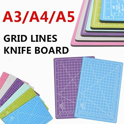 A3/A4/A5 CUTTING MAT SELF HEALING PRINTED GRID LINES KNIFE BOARD CRAFT MODEL gA