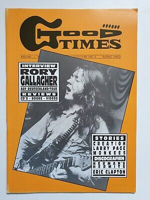Good Times 5/1993 - Rory Gallagher / Creation / Monkees / Eric Clapton u.a.!
