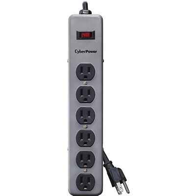CyberPower 6-Outlet Metal Surge Strip with 8' Cord - B608MGY