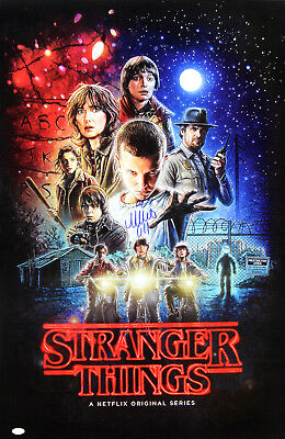 Millie Bobby Brown Signed Stranger Things Full Size Collage Poster - Eleven