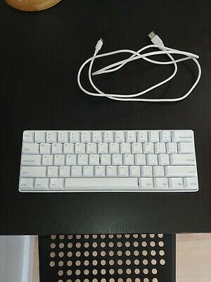 643b6910995 Vortex Pok3r 60% White Mechanical Keyboard White Cherry MX Brown Switches