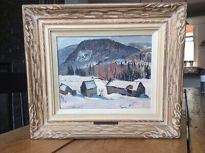Canadian Artist Lorne H Bouchard (1913-1978) A.R.C.A 1957 Quebec Oil Painting