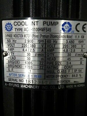 A-Ryung Machinery Coolant Pump 110HMFS45