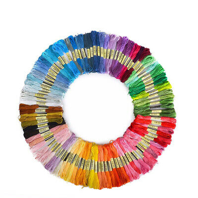 Crafts Sewing Skeins Floss Cotton Embroidery Thread Multi-Color Cross Stitch
