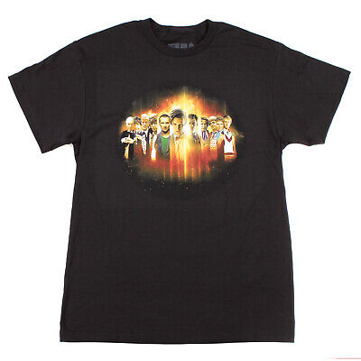 Dr Who Mens The Doctor Line Up Generation Montage T-Shirt (Large)
