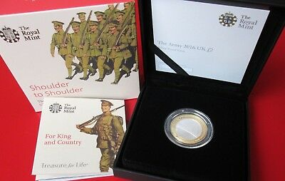 2016 ARMY  Shoulder To Shoulder Silver Proof £2 Coin