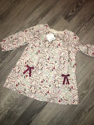 Girls Next Dress Age 12-18 Months New Long Sleeved Floral