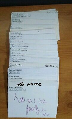 100 x Football Autographs . All Genuine Signed Cards. 6 x 4.