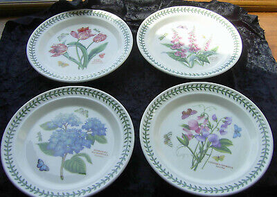 Portmeirion Botanic Garden Set Of Four Dinner Plates