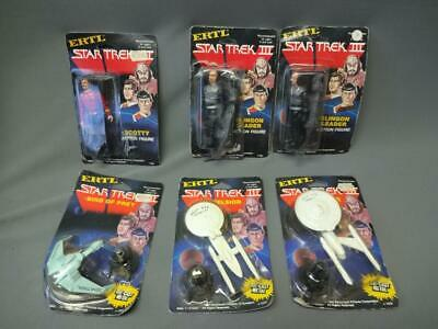 Ertl Star Trek III Action Figure Lot Scotty Klingon (2) Excelsior Enterprise