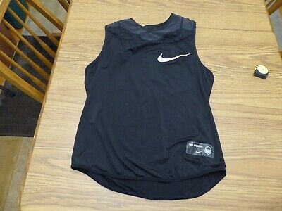 Nike Pro Compression Base Layer Padded Sleeveless Black Football XL Very Good
