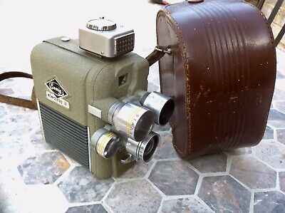 Vintage Eumig Electric R 8mm Movie Camera,Multiple Lens,Retro,Steampunk,Austria